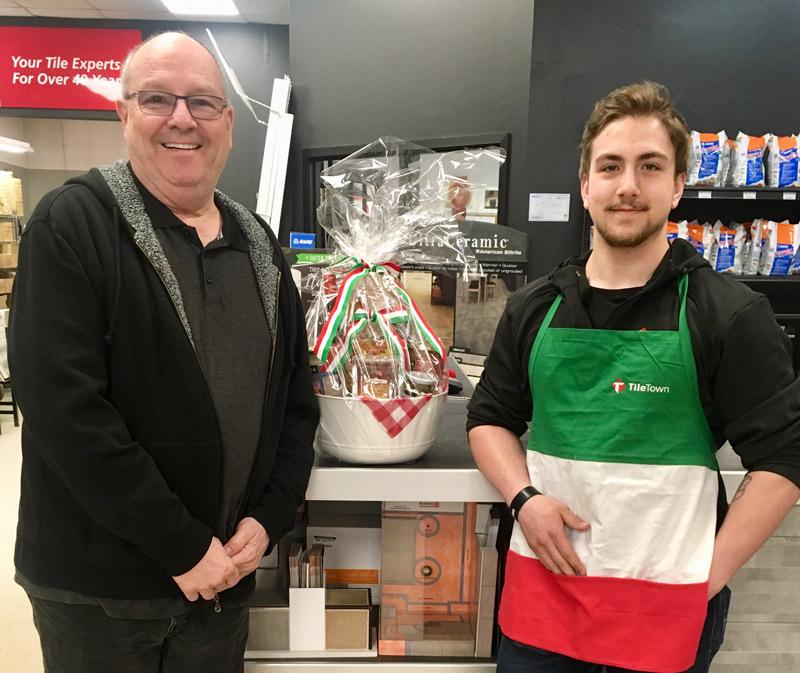 Terry Dekker Winner - Gourmet Italian Gift Basket Edmonton, Alberta