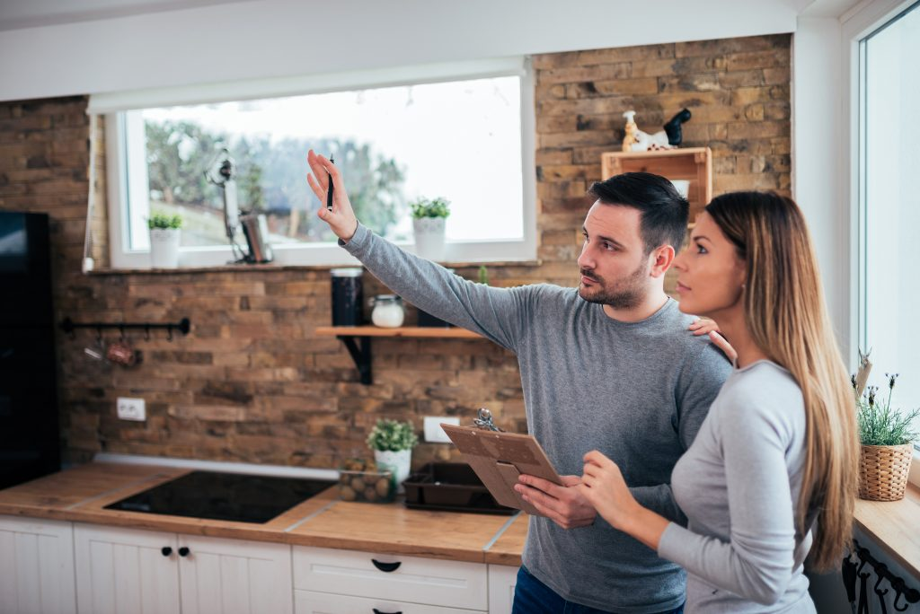 Couple envisioning kitchen makeover