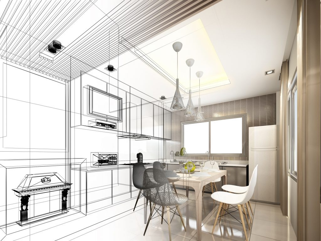 A contractor or interior designer can produce a blueprint of your new kitchen