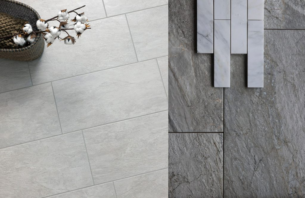 Geotech Grigio and Utah Granite 12x24 Italian Porcelain tiles